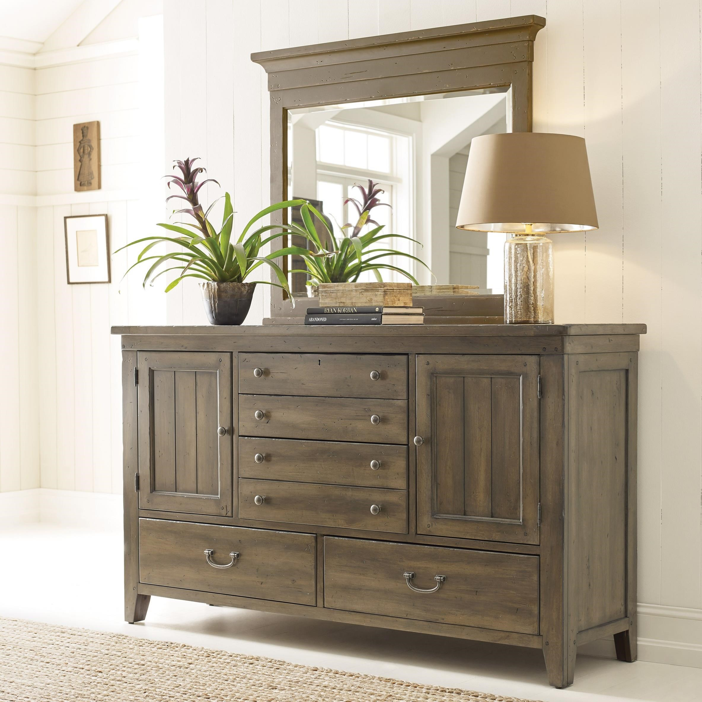 Mill House Dresser and Mirror Set by Kincaid Furniture at Johnny Janosik