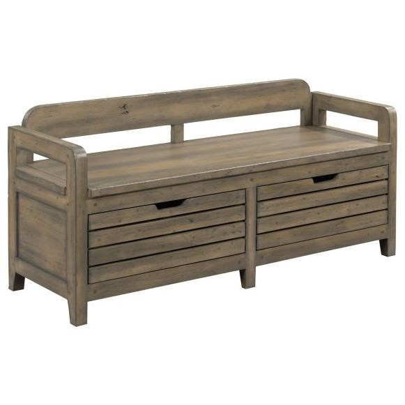 Mill House Engold Bed End Bench by Kincaid Furniture at Johnny Janosik
