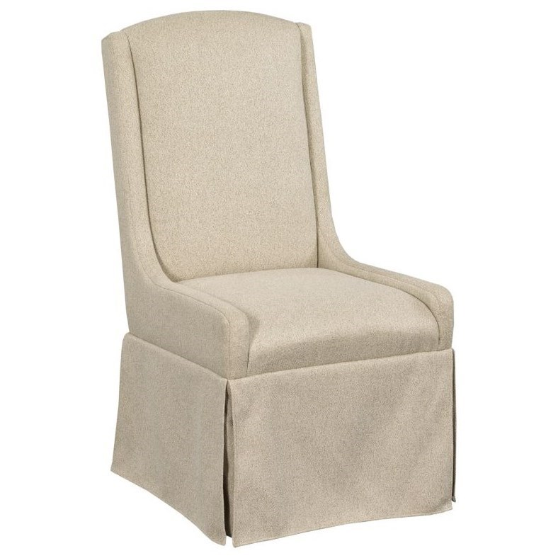 Mill House Barrier Slip Covered Dining Chair by Kincaid Furniture at Johnny Janosik