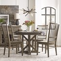 Kincaid Furniture Mill House Dining Table Set with 4 Chairs - Item Number: 860-701P+4x638