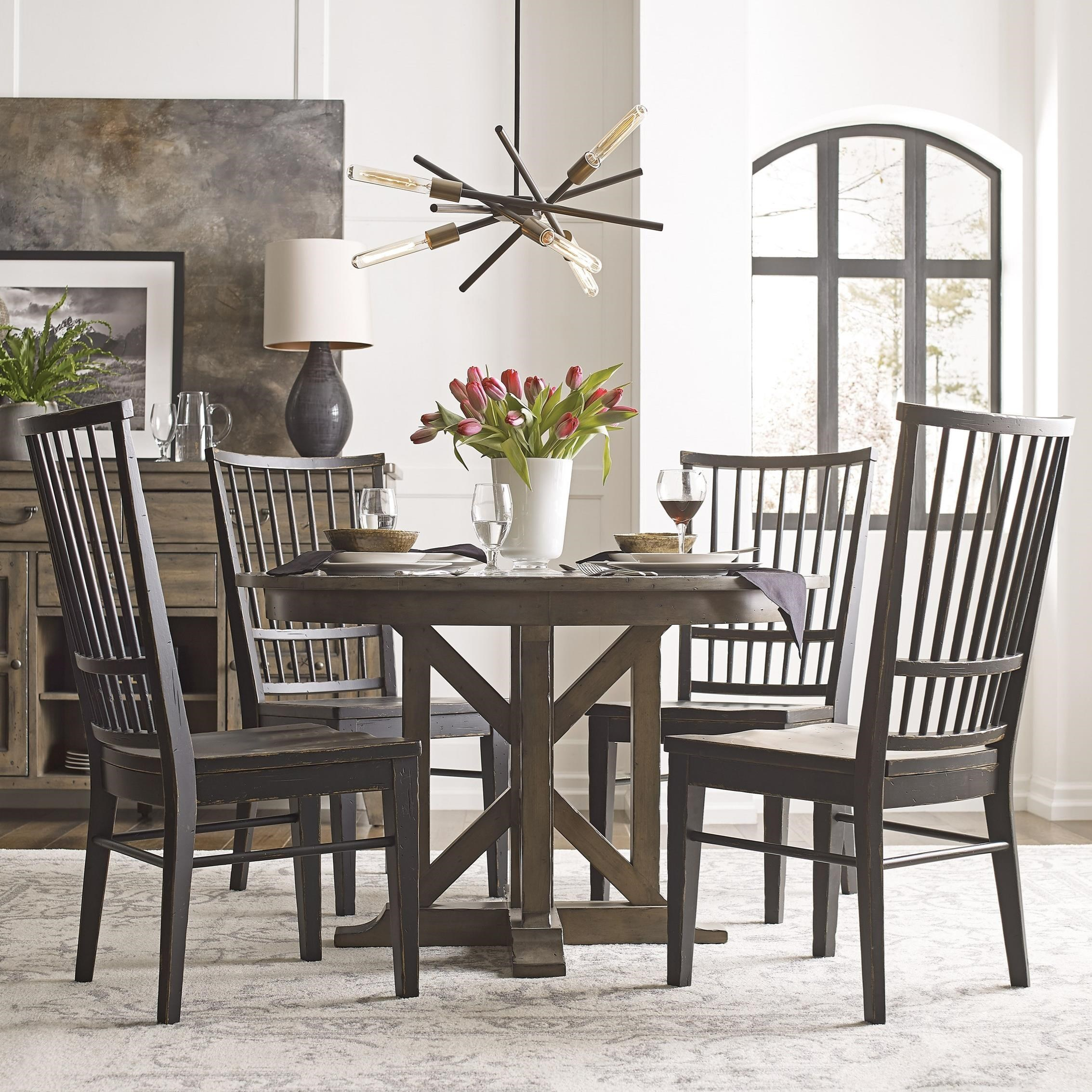 Mill House Dining Table Set with 4 Chairs by Kincaid Furniture at Johnny Janosik