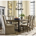 Kincaid Furniture Mill House Dining Table and Chair Set for 8 - Item Number: 860-745+2x620+6x636