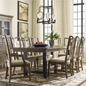 Kincaid Furniture Mill House Dining Table and Chair Set for 8 - Item Number: 860-745+2x637+6x636
