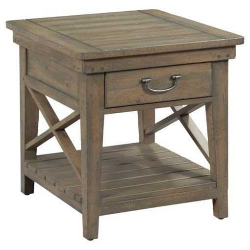 Mill House Winkler End Table by Kincaid Furniture at Johnny Janosik