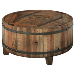 Round Barrel Inspired Cocktail Table