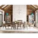 Kincaid Furniture Modern Forge Formal Dining Room Group - Item Number: 944 Dining Room Group 4