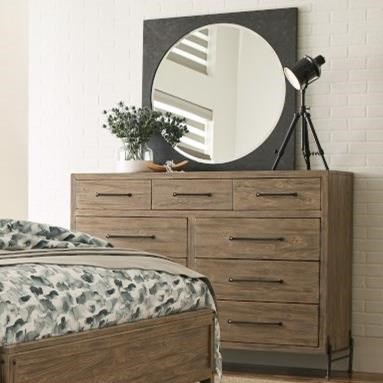 Modern Forge Dresser and Mirror Set at Stoney Creek Furniture
