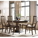 Kincaid Furniture Modern Forge 7-Piece Dining Set - Item Number: 944-701P+2X637+4X636