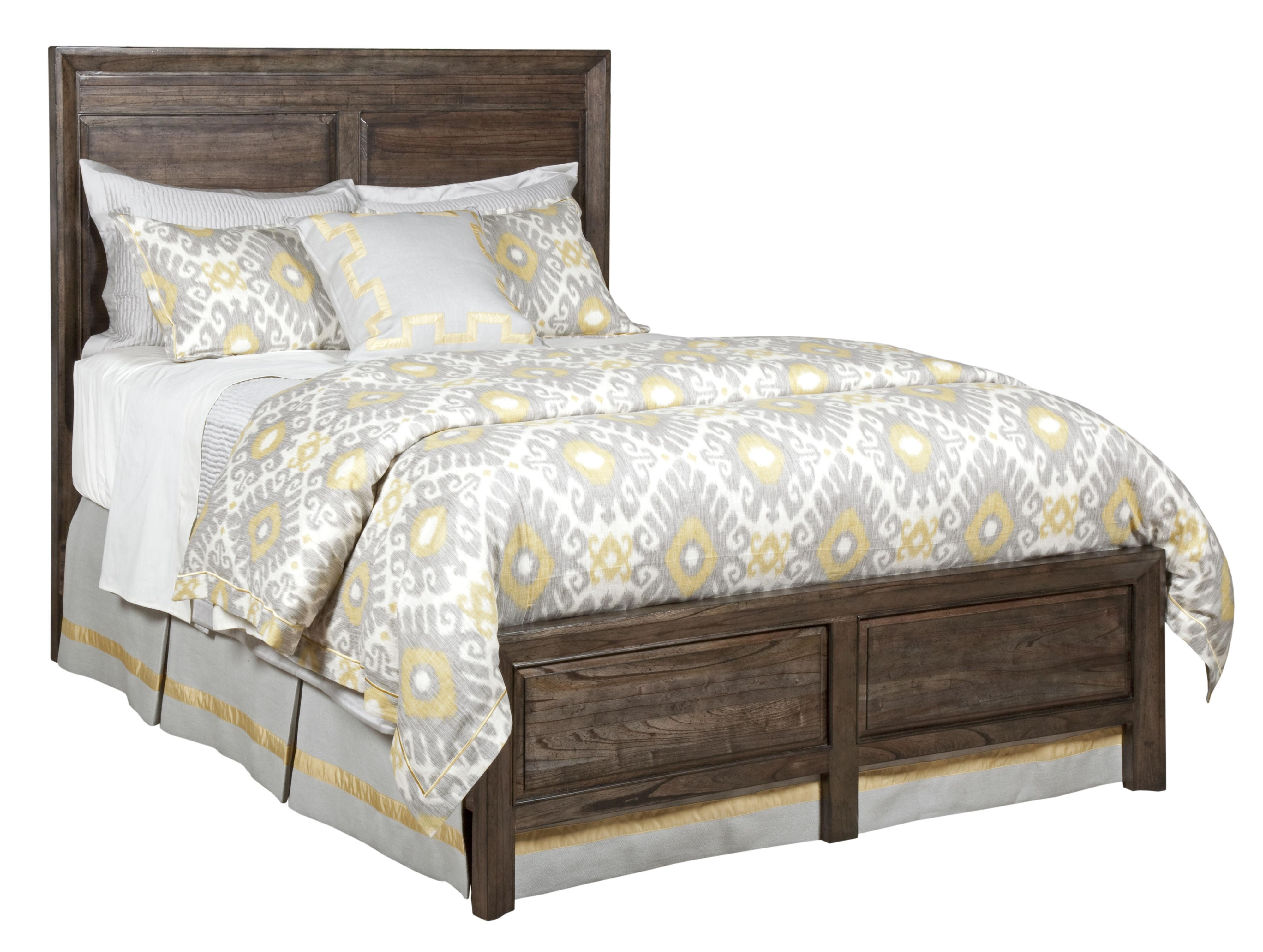King Borders Panel Bed