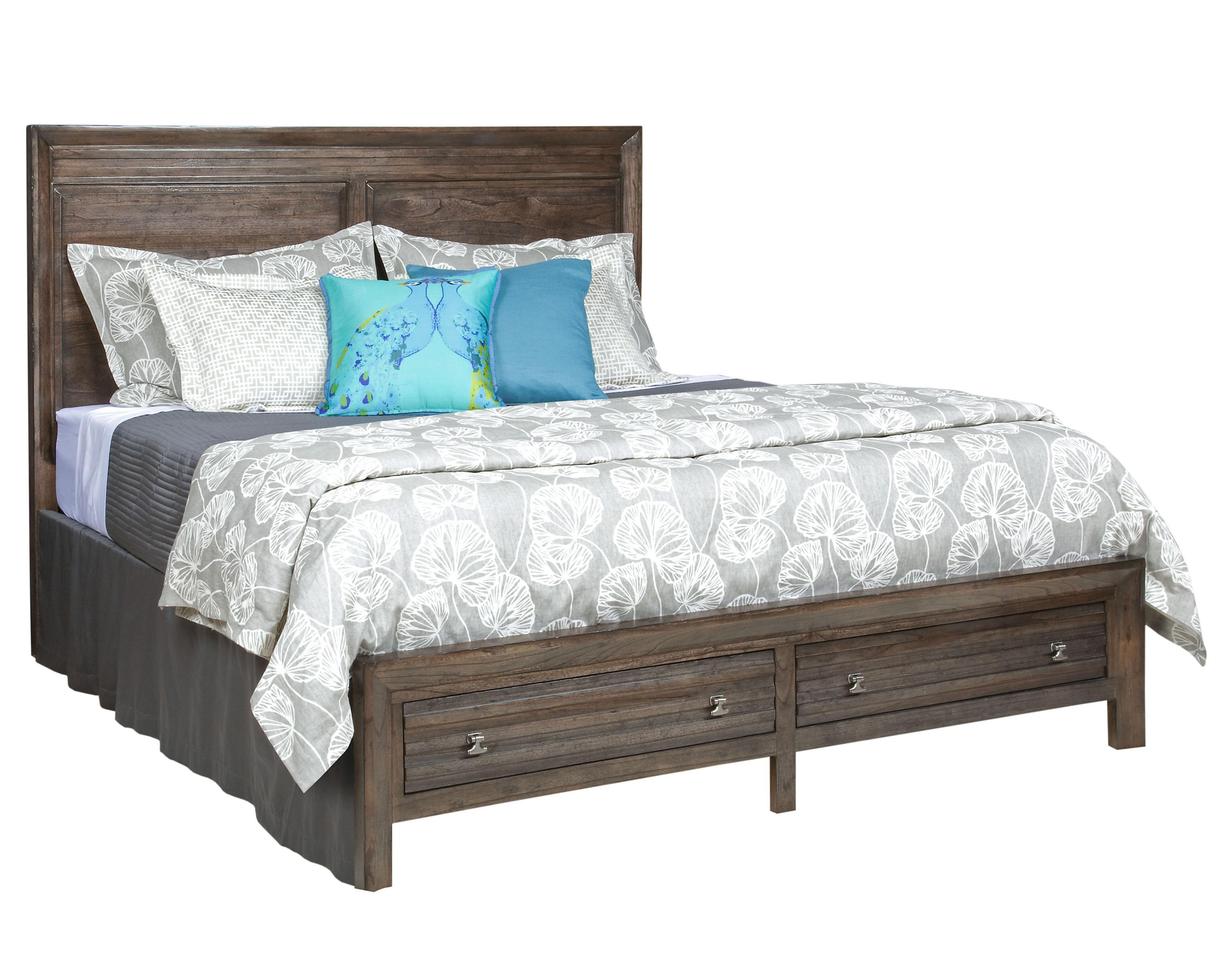 King Border's Panel Storage Bed