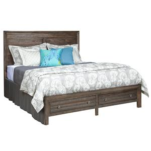 Queen Border's Panel Storage Bed