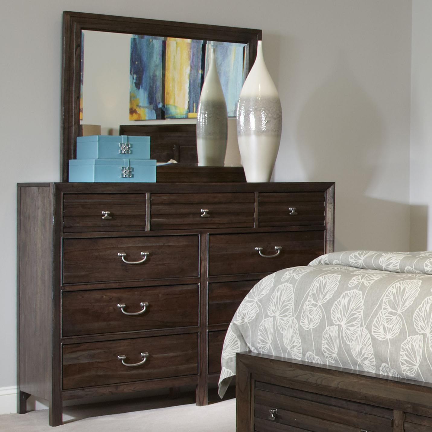 Kincaid Furniture Montreat Bureau & Mirror - Item Number: 84-161+118