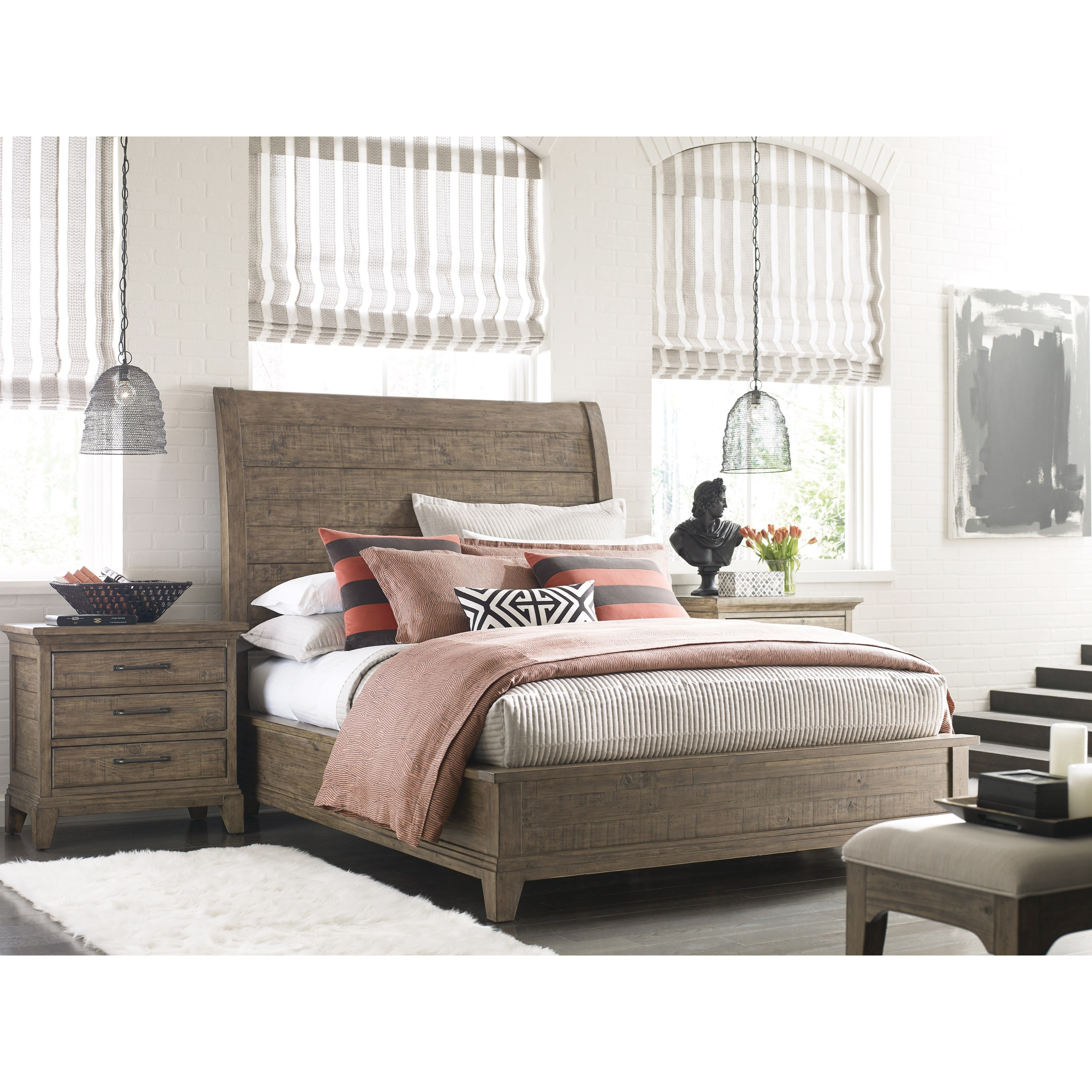 Kincaid Furniture Plank Road California King Bedroom Group Item Number 706 Ck