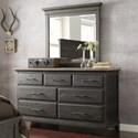 Kincaid Furniture Plank Road Farmstead Dresser & Jessup Mirror Set - Item Number: 706-120C+706-030C