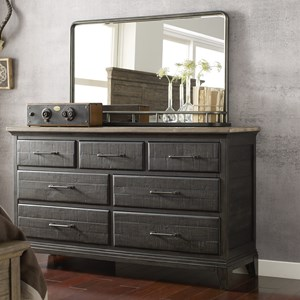 Kincaid Furniture Plank Road Farmstead Dresser + Westwood Mirror Set