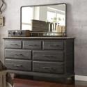 Kincaid Furniture Plank Road Farmstead Dresser + Westwood Mirror Set - Item Number: 706-120C+706-040C