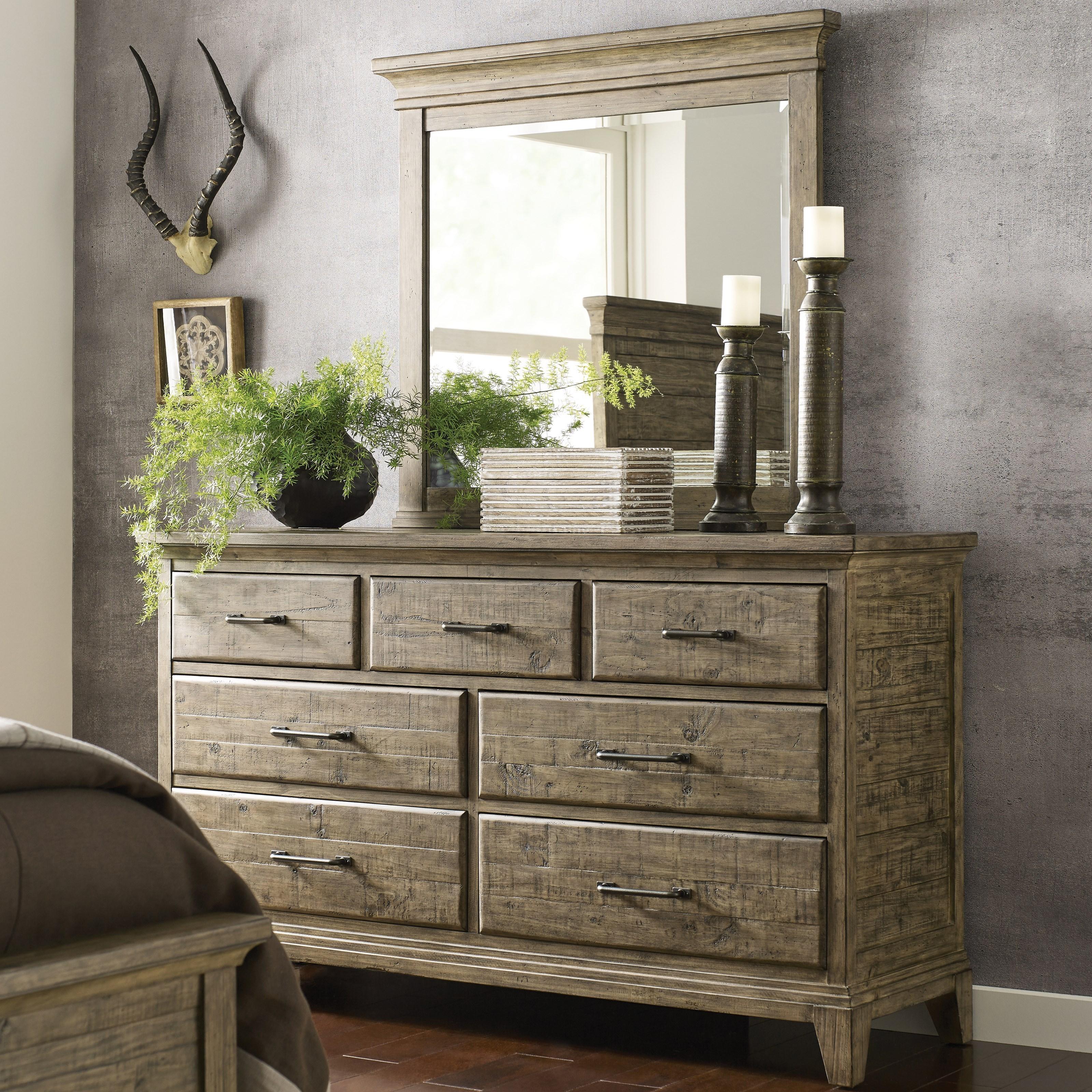 Plank Road Farmstead Dresser & Jessup Mirror Set at Stoney Creek Furniture