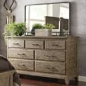 Kincaid Furniture Plank Road Farmstead Dresser + Westwood Mirror Set - Item Number: 706-120s+706-040S
