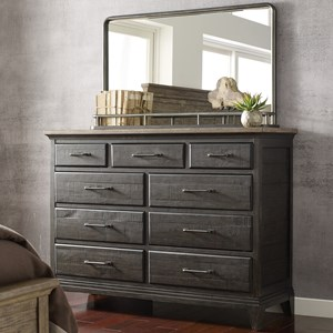 Kincaid Furniture Plank Road Westwood Bureau and Mirror Set