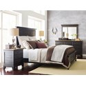 Kincaid Furniture Plank Road Blair Three Drawer Nightstand with Night Light and Electrical Outlet