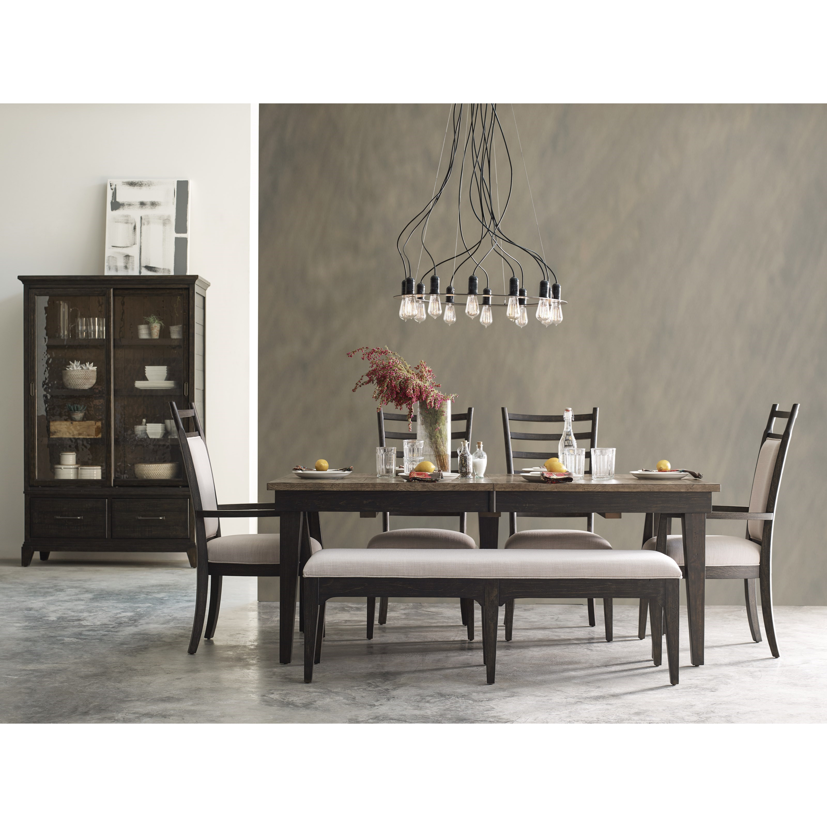 Kincaid Furniture Plank Road 706 480c Rankin Upholstered Dining Bench Becker Furniture World