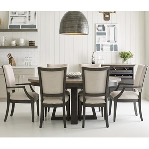 Kincaid Furniture Plank Road 7 Pc Dining Set w/ Button Table