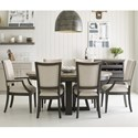 Kincaid Furniture Plank Road 7 Pc Dining Set w/ Button Table - Item Number: 706-701C+2X706-623C+4X706-622C