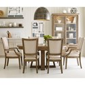 Kincaid Furniture Plank Road 7 Pc Dining Set w/ Button Table - Item Number: 706-701S+2X706-623S+4X706-622S