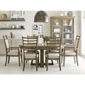 Kincaid Furniture Plank Road 7 Pc Dining Set - Item Number: 706-701S+4X706-636S+2X706-637S