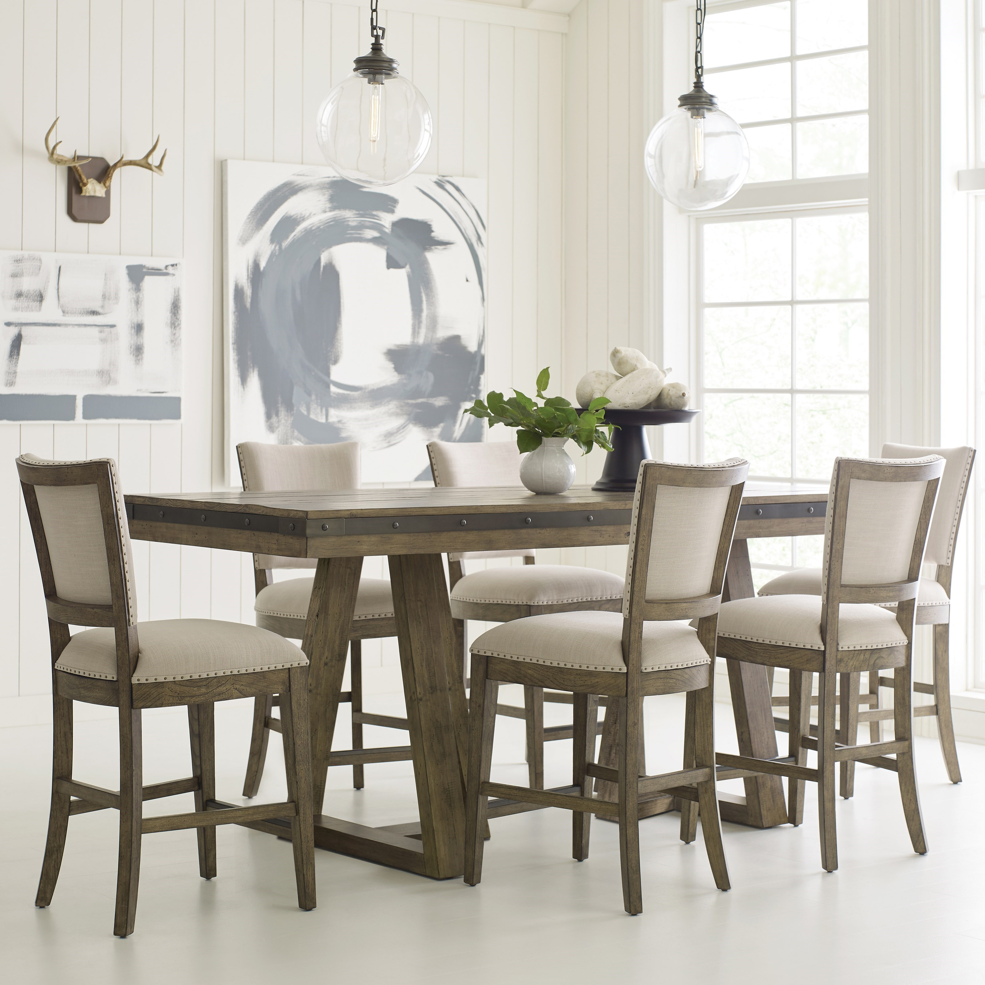 Plank Road 7 Pc Counter Height Dining Set at Stoney Creek Furniture