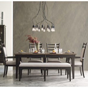 Kincaid Furniture Plank Road 6 Pc Dining Set w/ Bench