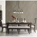 Kincaid Furniture Plank Road 6 Pc Dining Set w/ Bench - Item Number: 706-744C+2X706-637C+2X706-636C+480C