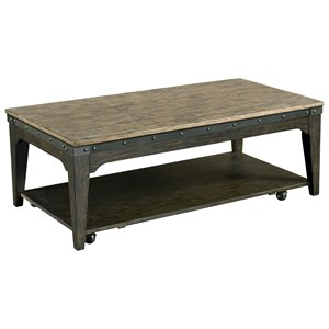 Kincaid Furniture Plank Road Artisans Rectangular Cocktail Table