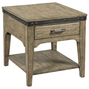 Artisans Rectangular Drawer End Table