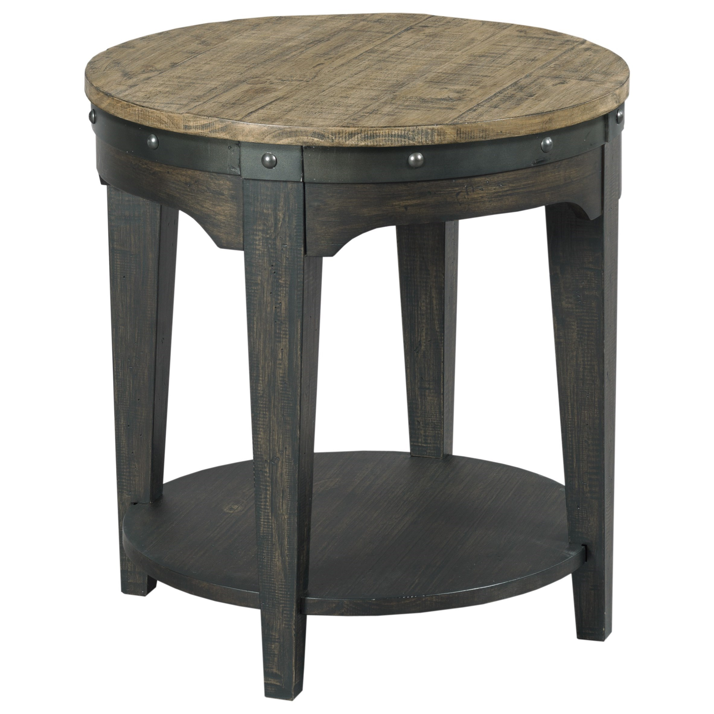 Kincaid Furniture Plank Road Artisans Round End Table                     - Item Number: 706-920C