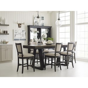 Kincaid Furniture Plank Road Casual Counter Height Dining Room Set