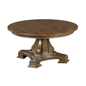 Kincaid Furniture Portolone Round Pedestal Cocktail Table