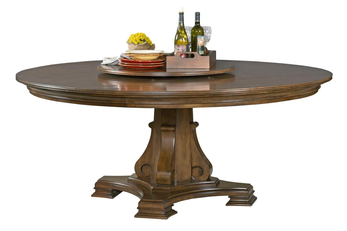 Portolone Stellia 72quot Round Solid Wood Dining Table with  : products2Fkincaidfurniture2Fcolor2Fportolone95 053p b2 from wolffurniture.com size 1200 x 797 jpeg 57kB