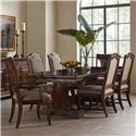 Kincaid Furniture Portolone 7 Pc Dining Set - Item Number: 95-054P+2X95-062+4X95-063