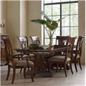 Kincaid Furniture Portolone 7 Pc Dining Set - Item Number: 95-054P+4X95-061+2X95-062