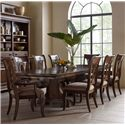 Kincaid Furniture Portolone Nine Piece Trestle Table and Harp Back Chairs Set