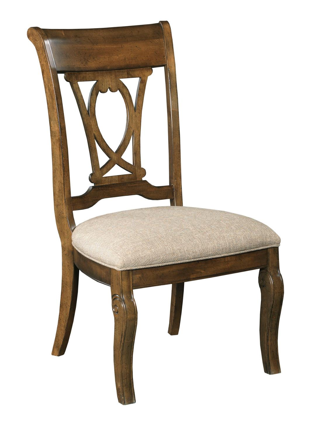 Traditional Upholstered Dining Chairs ~ Kincaid furniture portolone traditional solid wood harp