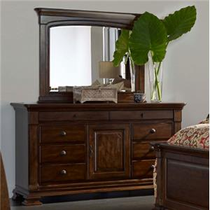 Kincaid Furniture Portolone Basilica Dresser and Landscape Mirror Set