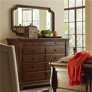 Kincaid Furniture Portolone Portolone Bureau and Mirror Set