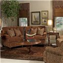 Kincaid Furniture Regency  Conversation Sofa with Decorative Throw Pillows - 638-87 - Shown in Room Setting