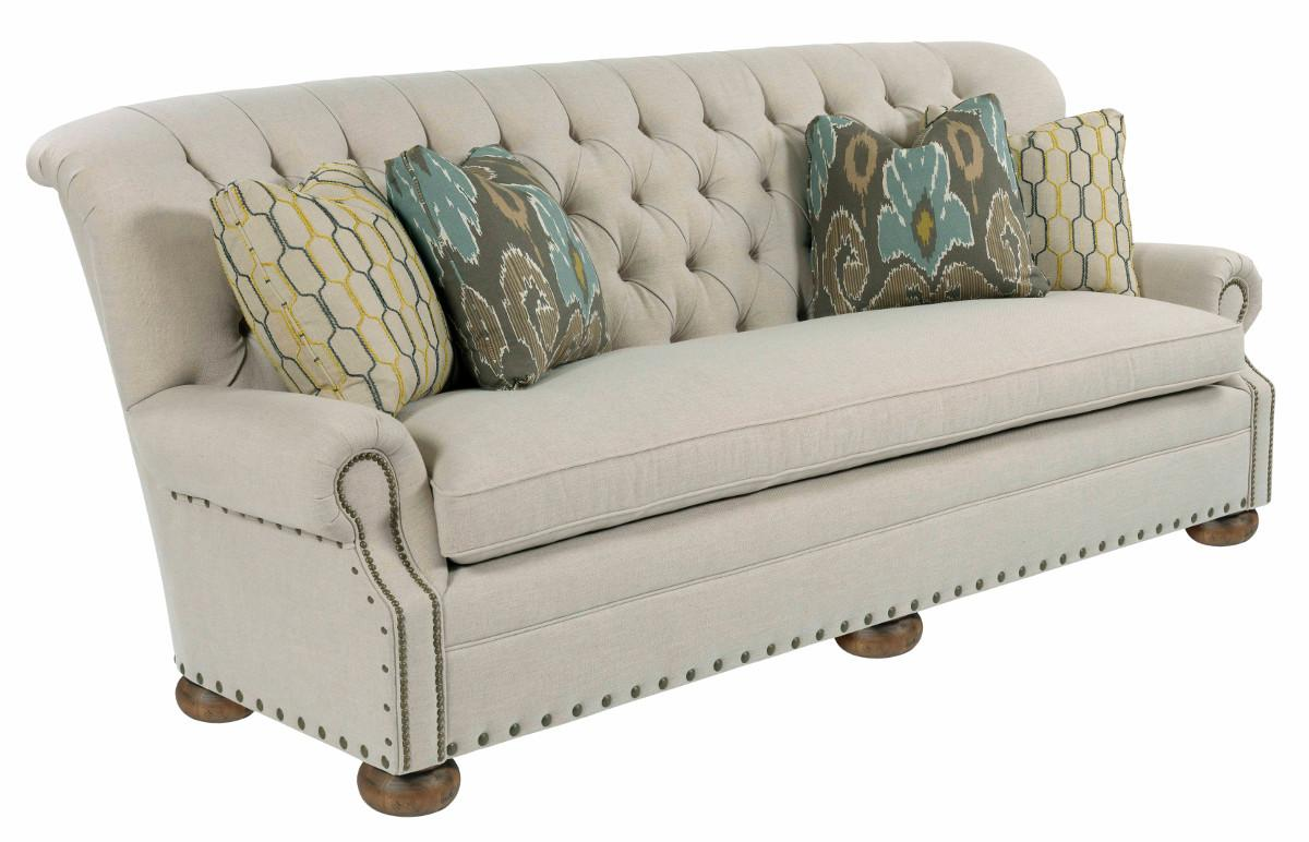 Kincaid Furniture Spencer Traditional 96 Inch Button Tufted Sofa With Rolled  Back And Nailheads | Belfort Furniture | Sofa