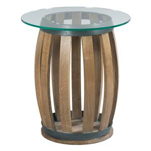 Kincaid Furniture Stone Ridge Round (Wine Barrel) Accent Table