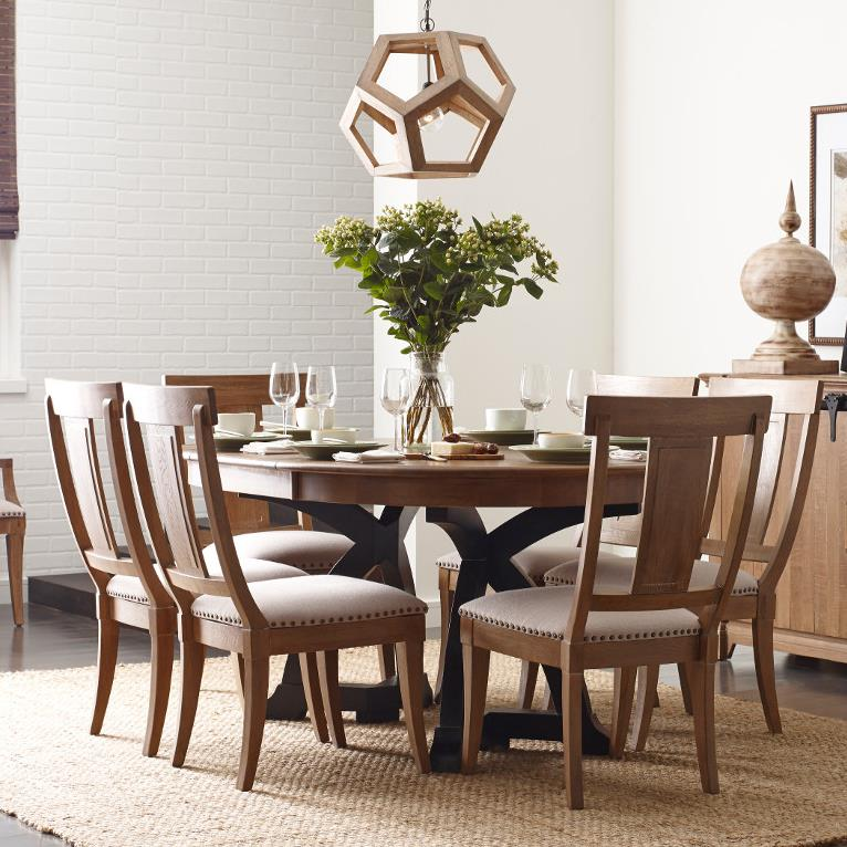 Kincaid Dining Room Set: Kincaid Furniture Stone Ridge Seven Piece Dining Set With Round/Oval Extendable Table