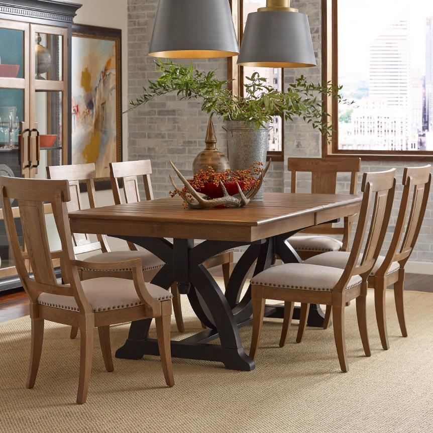 Kincaid Furniture Stone Ridge Seven Piece Dining Set With