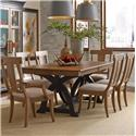 Kincaid Furniture Stone Ridge 7 Pc Dining Set - Item Number: 72-056P+4X72-061+2X72-062